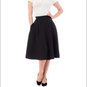 rocksteady black thrills circle skirt with pockets